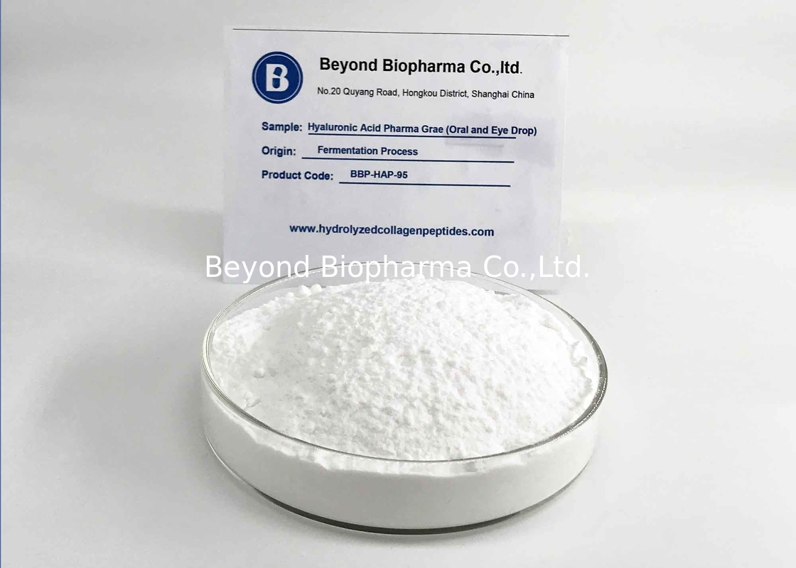 Medical Grade Hyaluronic Acid Bulk Powder , GMP And DMF Verified Sodium Hyaluronate
